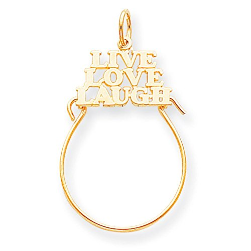 "10 k Live Love Laugh ""haute qualité-Or Or 9 Carats JewelryWeb que"