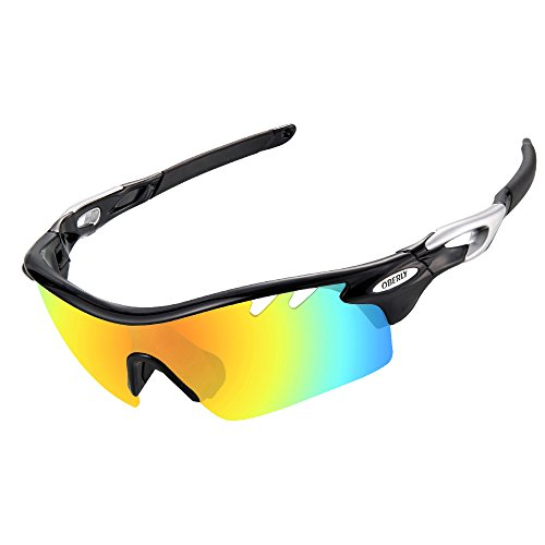 OBERLY Cycling Glasses, Polarized Sports Sunglasses with 4 Interchangeable Lenses for Men Women Baseball Fishing Running Driving Bicycle Golf – DiZiSports Store