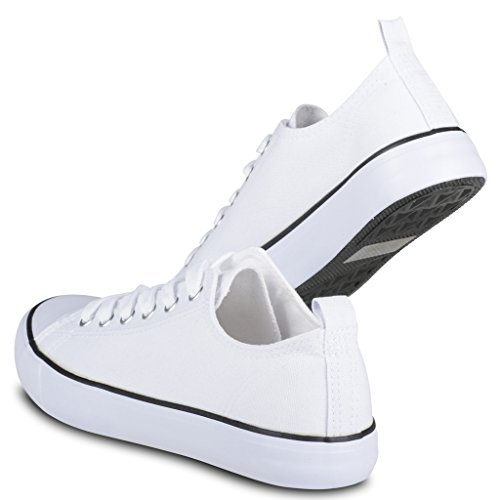 Twisted Damen Jäger Lo-Top Stilvolle Canvas Sneakers Weiß