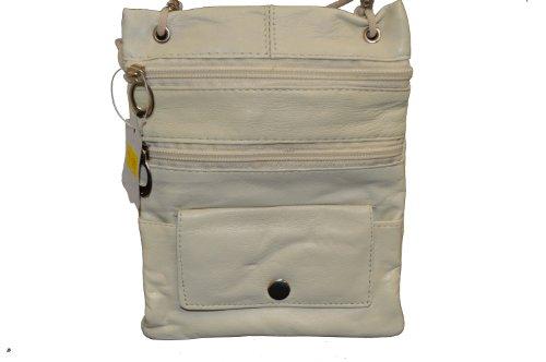 Soft Leather Neck ID/Passport Wallet/Holder. Beige