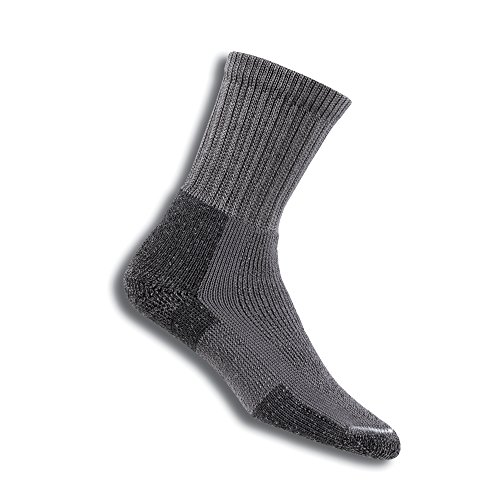 (Thorlos Unisex KX Thick Padded Hiking Crew Sock, Pewter, Large)
