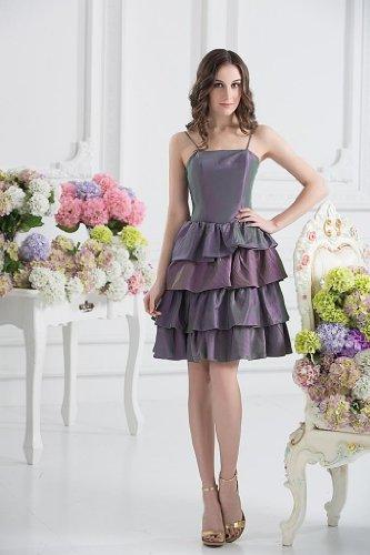 knielangen Abendkleid BRIDE Rock Wunderschoene Lila geschichtet GEORGE HEUXxX