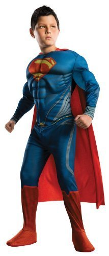 Rubies Man of Steel Deluxe Superman Children's Costume, Small (Boys Superman Costume)