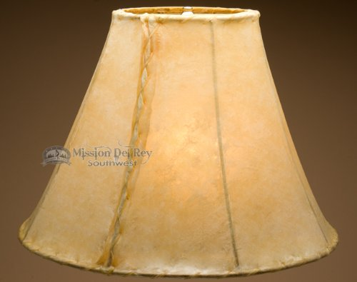 Rawhide Lamp Shades 20'' (Bell Style) by Mission Del Rey
