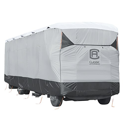 Classic Accessories 80-372-101901-EX 33'-37' Long SkyShield Heavy-Duty RV Class A Cover -