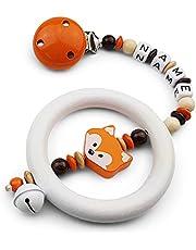 Babybarnvagn hänge med namn – flickor och pojkar barnvagnskedja med önskat namn – räv i orange