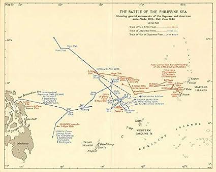 Amazon.com: Battle of The Philippine Sea 18-21 June 1944 ... on tahiti map pacific, world war ii pacific, world map pacific, garbage island pacific, silestone pacific, war in pacific,