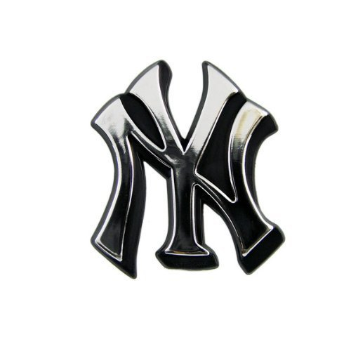 New York Yankees MLB Chrome 3D for Auto Car Truck Emblem Decal Sticker Baseball Officially Licensed Team Logo by Teampromark