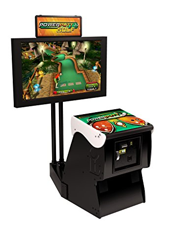 Power Putt Golf Home Arcade Game With Monitor Stand