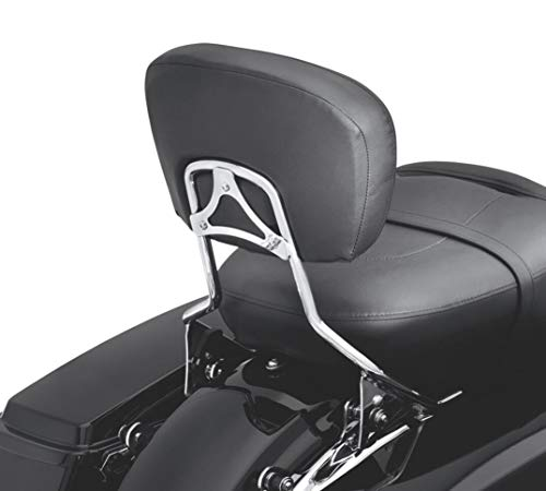 (Detachable Passenger Backrest Pad Sissy Bar Chrome Harley Davidson Touring 09-19)