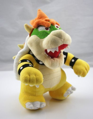 "Super Mario 10"" Standing King Bowser Koopa Plush Toy Nintendo Stuffed Animal"