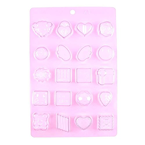 1 PCS Chocolate Candy Making Molds Baby Shower F058 Heart Wi