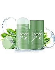 Green Mask Stick, Ksndurn 2PC Green Tee Purifying Clay Stick Mask - Face Moisturizes Oil Control / Poreless Deep Cleanse Mask Stick
