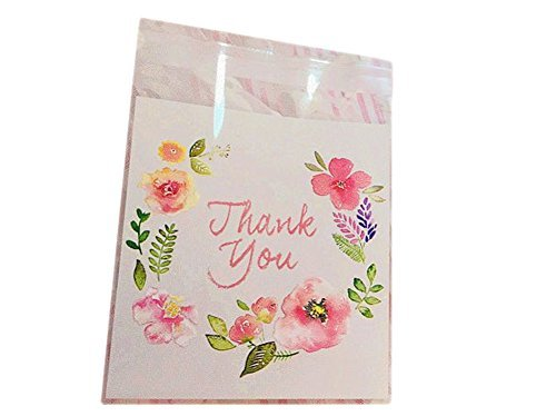 Flower Floral 100 Pcs 10x10cm Baking Cookie Candy Cake Bags Plastic Party Favour Gift Packaging Wrapping (Floral Packaging Bags)