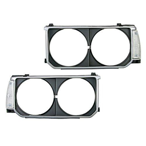 Headlight Lamp Frame Cover Trim + Corner Light For Toyota Corolla KE70 DX 79-84 (Corolla Cover Toyota Headlight)