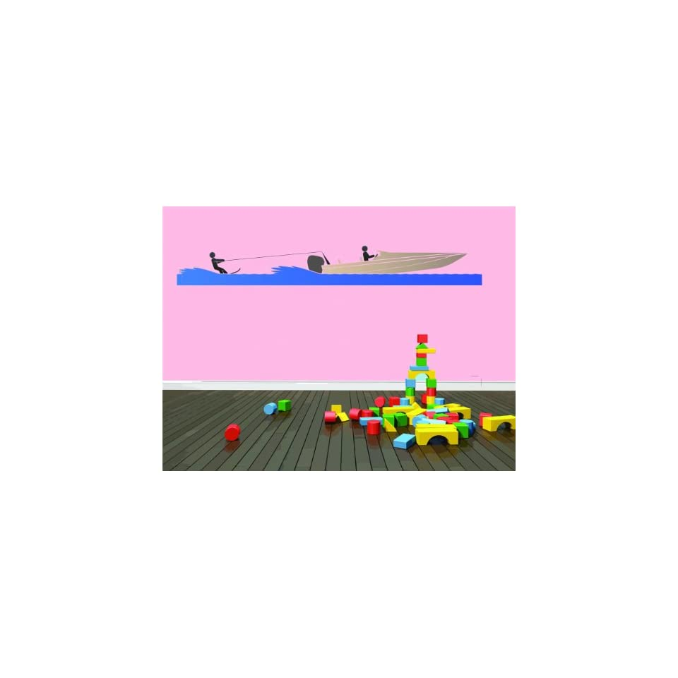 BEDROOM DECOR Colorful Water Speed Boat Racing Jet Ski Boy Girl Kid Graphic Design Home Living Room Wall   Best Selling Cling Transfer Decal Color 661 0Size  12 Inches X 70 Inches   22 Colors Available   Wall Decor Stickers