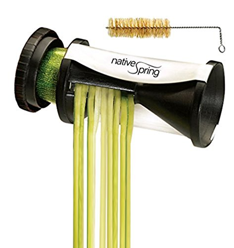 Fry Stir Set Slicing (Spiral Vegetable Slicer, Hand Held with Cleaning Brush. Zucchini and Carrot Veggie Pasta Maker)