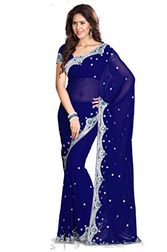 Mirchi Fashion Women's Designer Wedding Traditional Indian Saree - Sarees Indian
