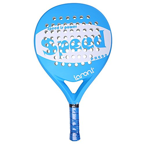 Memory Fiber Carbon (ianoni Tennis Padel Beach Racket Tennis Paddle With Carbon Fiber Face and EVA Memory Foam Core-Used Interchangeably for Paddle(Padel ) and Paddle Tennis(POP Tennis))