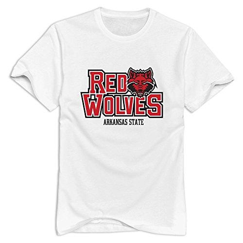 Tavil Arkansas State Red Wolves 100% Cotton T-shirt For Man White Size S (Arkansas University Golf State)