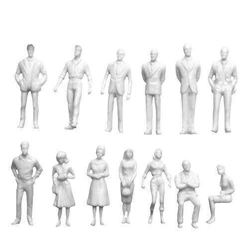lecimo 100X 1:150 Scale Model Miniature White Figures Architectural Model Human ABS