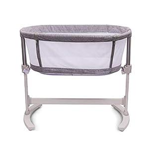 PurFlo Baby Newborn KEEP ME CLOSE Breathable Bedside Sleeping Crib in Marl Grey