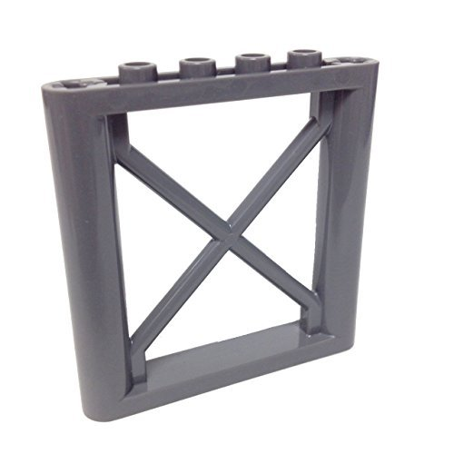 Lego-Parts-Support-1-x-6-x-5-Girder-Rectangular-DBGray