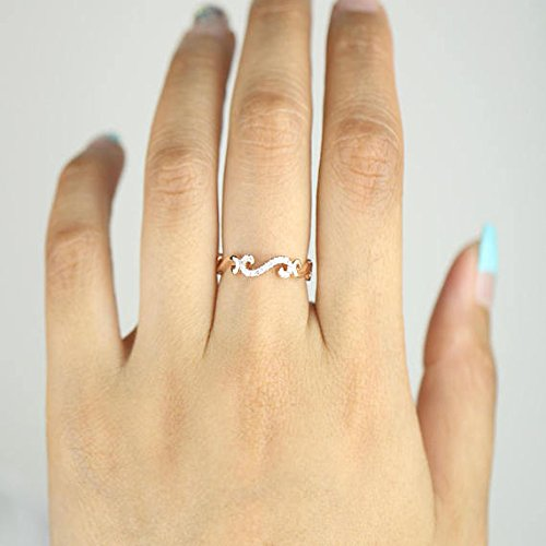 Amazoncom Diamond Band Diamond Ring Diamond S Shape 14K Solid