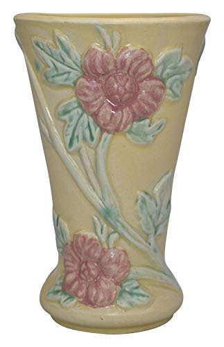 (Hull Pottery Crab Apple Yellow Floral Vase 50)