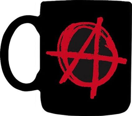 Amazon Mugs Anarchy Symbol Designed Mug 12 Ounce Black