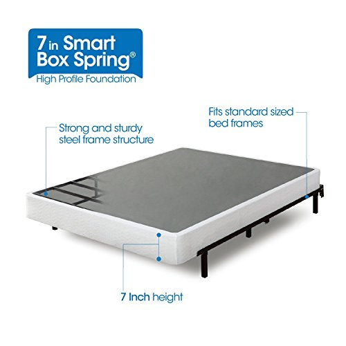 Zinus Armita 7 Inch Smart Box Spring / Mattress Foundation / Strong Steel Structure / Easy assembly Required, King