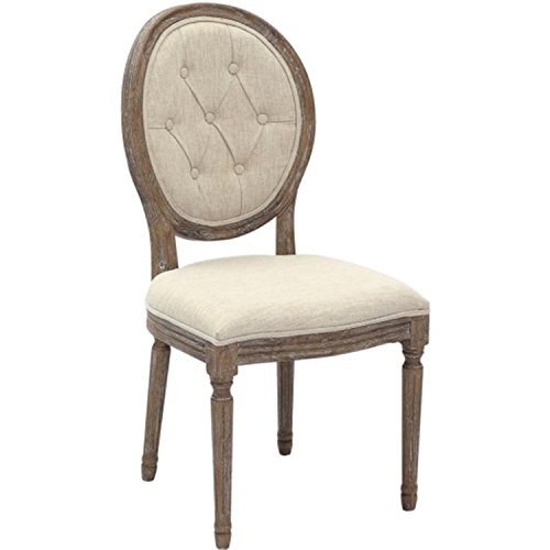 2xhome Cream Vintage Farmhouse French Country Mid Century Modern Fabric Upholstered Button Tufted With Back Padded Side Armless Dining Chairs Assembled Living Accent Kitchen Bedroom Ghost Wood Work For Sale