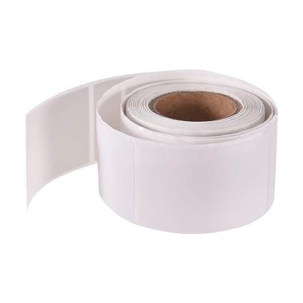 Walmeck Rollo de papel térmico autoadhesivo para impresora de ...
