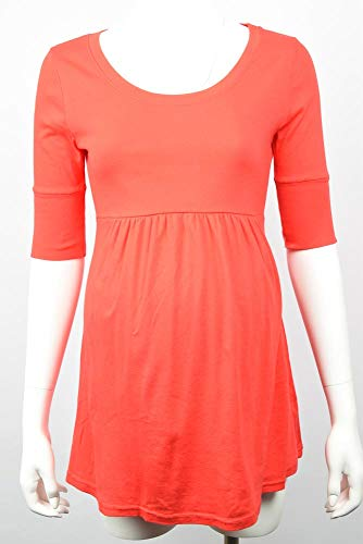 Michael Stars Maternity Tomato red OSFA Shirred Empire t-Shirt top
