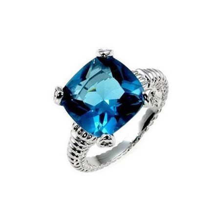 Icon Bijoux R07632R-S32-05 Aqua Cushion Engagement Ring (Size: 05) from Icon Bijoux