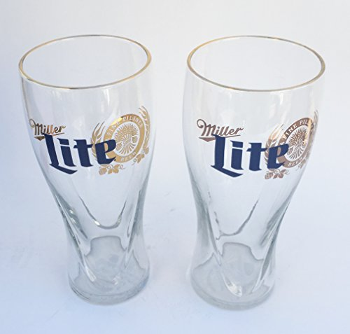 Miller Lite 16 Ounce Signature Pilsner Glass ()