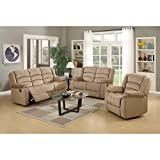 Blackjack Furniture The Winthrop Collection 3-Piece Reclining Living Room Sofa Set, Beige