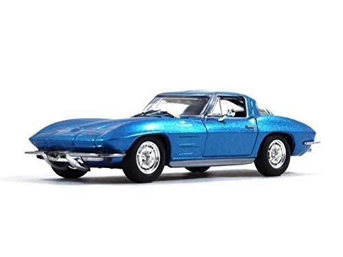 [해외]쉐보레 코르벳 스팅레이 C2 (2004) 1:43 스케일 블루 색상 De Agostini 2도어 쿠페 다이캐스트 모델 자동차 / Chevrolet Corvette Stingray C2 (2004) 1:43 Scale Blue Color De Agostini 2-Door Coupe Diecast Model Car