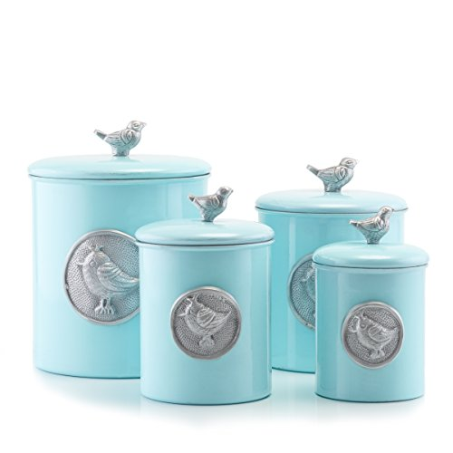 Rustic Distressed Bird Canister Set