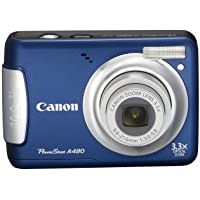 Canon PowerShot A480 10 MP Digital Camera with 3.3x Optical Zoom and 2.5-inch LCD (Blue) Key Pieces Review Image