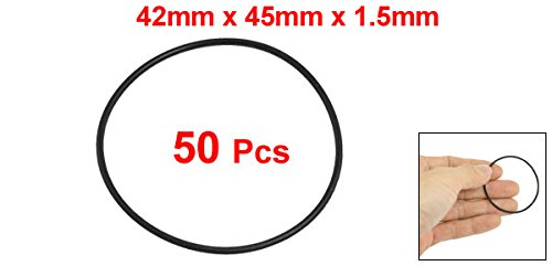uxcell 45mm x 1.5mm Nitrile Rubber O Ring Oil Seal Grommets 50 Pcs