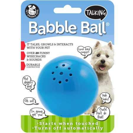 Pet Qwerks Talking Babble Ball Interactive Dog Toys - Wisecracks & Makes Funny Sounds, Electronic Talking Treat Ball That Talks & Makes Noise - Avoids Boredom & Keeps Active | for Medium Dogs (Puppy Christmas Gift)