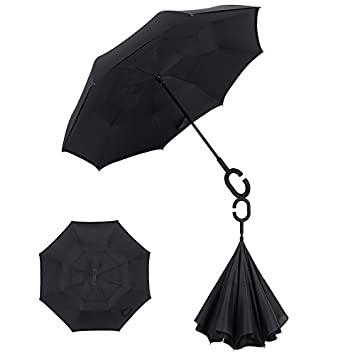 Crochi Inverted Umbrella Rain Women Men paraguas Double Layer Reverse Umbrella Male guarda chuva invertido car