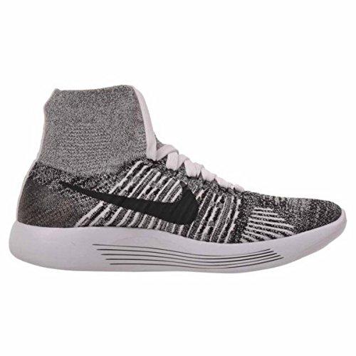 Femmes Nike Lunarepic Flyknit 818677 101 Blanc / Lblack Taille 12