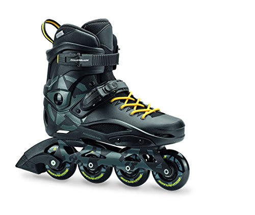 Rollerblade RB 80 Unisex Adult Fitness Inline Skate, Black and Yellow, Urban Performance Inline Skates