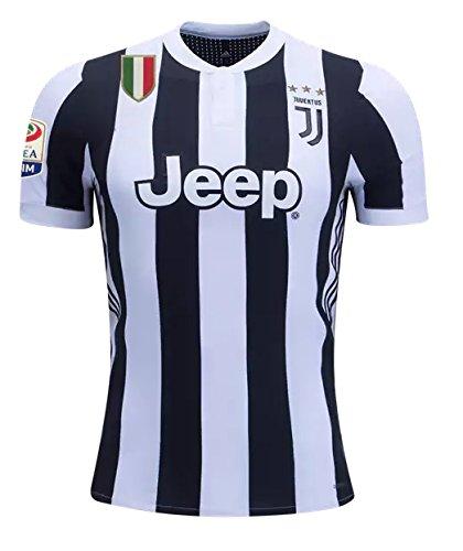 S_C_Z Juventus Home 17/18 Soccer Jersey Mens Color Black/White Size M