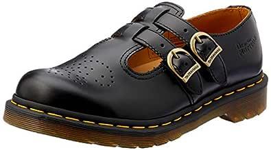 Dr. Martens 8065 2 Strap Mary Jane Women's Fashion Shoes, Black, 5 US