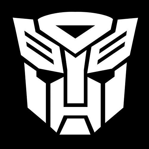 (2) WHITE Transformers Autobot Vinyl Decal Sticker Car Hood Window Laptop -