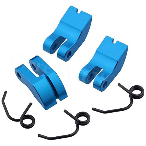 (Part & Accessories 081008 Silver Alloy 3 Shoe Clutch & Spring RC 1:8 Car Truck Upgrade Parts - (Color: Blue))