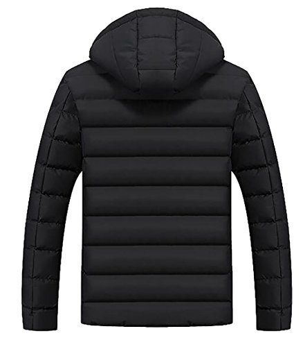 today Jacket Hooded Quilted Men's UK Winter Lightweight Warm Black Wwrv6WP